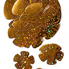 Аксессуар д/декора Набор из 24 цв, Голограф. оранж. 3,5-13,5см