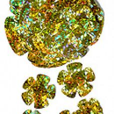 Аксессуар д/декора Набор из 24 цв, Голограф. золото 3,5-13,5см