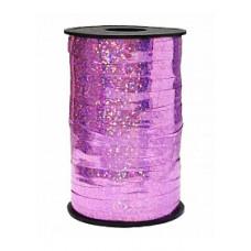 Лента Полипропилен голография 0.5см*250м розовый