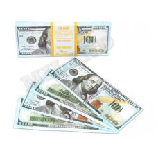 Шуточные деньги 100 долларов 100шт/уп
