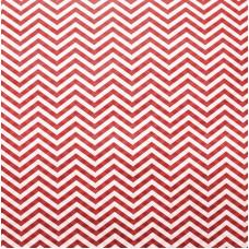 Упаковочная бумага, Крафт (0,5*10 м) Зигзаги, Красный, 1 шт.