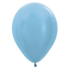 Шар (12''/30 см) Карибская синева (438), перламутр, 50 шт. Sempertex