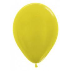 Шар (12''/30 см) Желтый (520), металлик, 50 шт. Sempertex