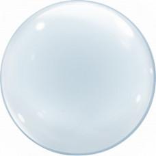 Шар (36''/91 см) Сфера 3D, Deco Bubble, Прозрачный, Кристалл, 10 шт. Falali