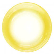 Шар (18''/46 см) Сфера 3D, Deco Bubble, Желтый спектр, Прозрачный, 1 шт. Falali