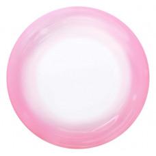 Шар (18''/46 см) Сфера 3D, Deco Bubble, Розовый спектр, Прозрачный, 1 шт. Falali