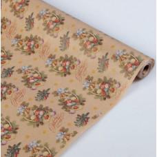 Упаковочная бумага, Крафт (0,7*10 м) Ёлочные корзинки, 1 шт.