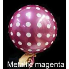 Шар (18''/46 см) Сфера 3D, Deco Bubble, Круги, Маджента, Металлик, 1 шт. Falali