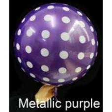 Шар (18''/46 см) Сфера 3D, Deco Bubble, Круги, Пурпурный, Металлик, 1 шт. Falali