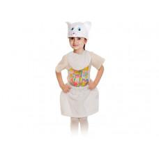 """Карнавальный костюм """"Кошечка белая"""" плюш лайт манишка рост 92-116 см"""