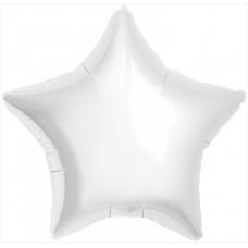 Шар (19''/48 см) Звезда, Белый, 1 шт. Agura