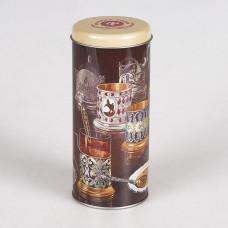 """Коробка-банка жестяная тубус для сыпучих продуктов """"Подстаканники"""" 7.8*17.8см 800мл"""