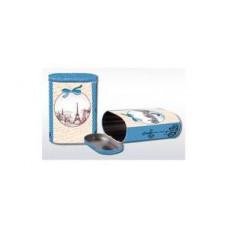 "Коробка-банка жестяная для сыпучих продуктов ""Романтика"" 13.5*7.5*19.2см 1700мл"
