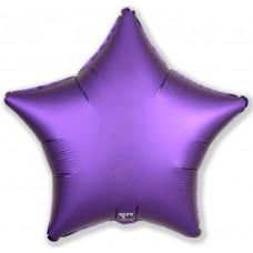 Шар (19''/48 см) Звезда, Фиолетовый, Сатин, 1 шт. Agura
