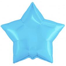 Шар (19''/48 см) Звезда, Холодно-голубой, 1 шт. Agura