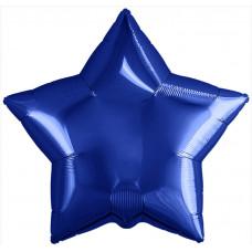 Шар (19''/48 см) Звезда, Темно-синий, 1 шт. Agura