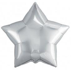 Шар (19''/48 см) Звезда, Серебро, 1 шт. Agura