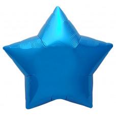 Шар (19''/48 см) Звезда, Синий, 1 шт. Agura