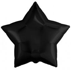 Шар (19''/48 см) Звезда, Черный, 1 шт. Agura