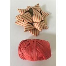 """Набор подарочный из крафт бумаги """"Бант"""" + лента 2.5см из немелованной бумаги красный"""