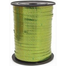 Лента (0,5 см*228,6 м) Диагонали, Зеленый, Металлик, 1 шт.