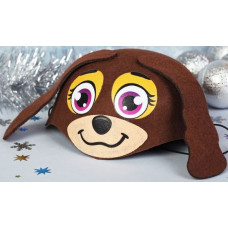 """Шляпа карнавальная """"Собачка с висячими ушами"""""""