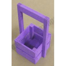 Ящик декоративный деревянный Л4-И 230*135*110 сиреневый