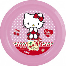 Тарелка пластиковая (9''/23 см) Hello Kitty, 1 шт.
