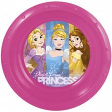 Миска пластиковая (7''/18 см) Принцессы Дружные приключения, 1 шт.