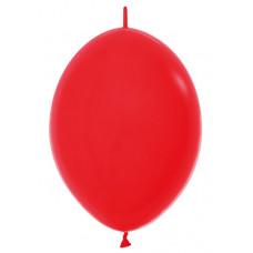 Шар-линколун 6д Пастель красный 100шт Sempertex