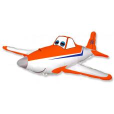 Шар (16''/41 см) Мини-фигура, Гоночный самолет, Оранжевый, 1 шт. Flexmetal