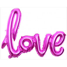 "Шар (41''/104 см) Фигура, Надпись ""Love"", Фуше, 1 шт. Falali"