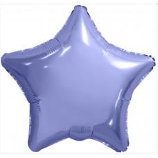 Шар (19''/48 см) Звезда, Пастельный фиолетовый, 1 шт. Agura