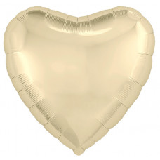Шар (18''/46 см) Сердце, Шампань, 1 шт. Agura