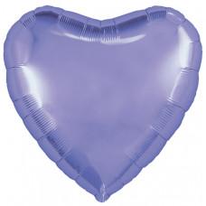 Шар (18''/46 см) Сердце, Пастельный фиолетовый, 1 шт. Agura