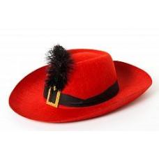 Карнавал шляпа красная Кот в сапогах