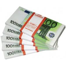 Шуточные деньги 100 евро 100шт/уп