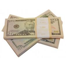 Шуточные деньги 50 долларов 100шт/уп