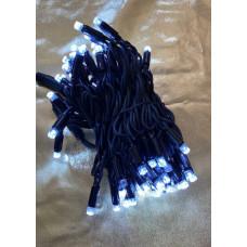 """Гирлянда электрическая уличная """"Классика"""" 10м холодный свет+холодный флэш черный провод"""