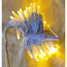 """Гирлянда электрическая уличная """"Классика"""" 10м теплый свет+холодный флэш белый провод"""