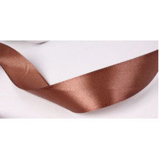 Лента атлас 2см*25ярд светло-коричневый