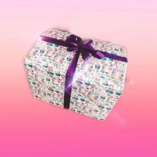 """Коробка сюрприз с воздушными шарами  """"Поздравляю"""""""
