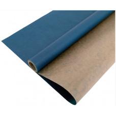 Упаковочная бумага, Крафт (0,7*10 м) Синий, 1 шт.