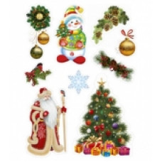 "Оформительский набор ""Дед Мороз и Снеговик"" на двусторон. скотче"