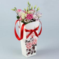 "Пакет для цветов 15*13 ""Роза чайная"" 10шт"
