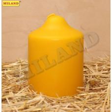 Свеча пеньковая желтая ароматическая, мед 70х100