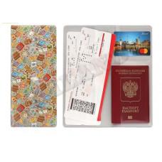 """Конверт путешественника для документов из ПВХ """"Не забудь все вещи в поездку"""""""