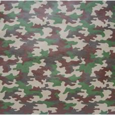 Упаковочная бумага, Крафт 70гр (0,7*10 м) Камуфляж, Хаки, 1 шт.