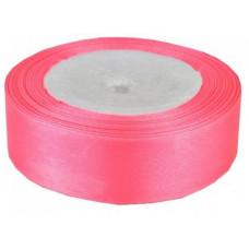 Лента атласная 1см*25ярд розовый