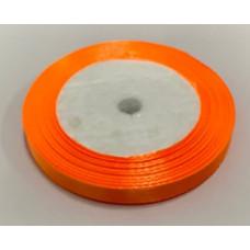Лента атласная 1см*25ярд оранжевый
